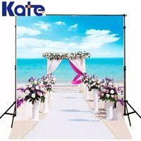 5*6.5Feet(150*200Cm) Romantic Beach Wedding Photography Backdrops Photography Background Fotografia Photo Background