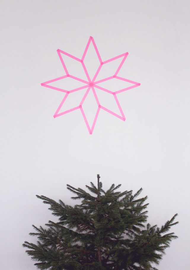DIY -  washi tape christmas star
