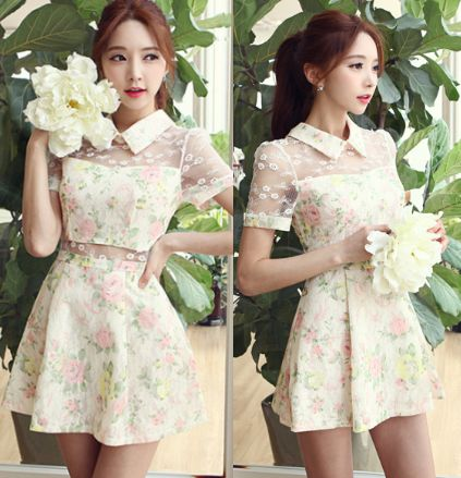 """Use this coupon code """"playbanovici"""" to get all 10% off!   Sweet lace floral dress"""