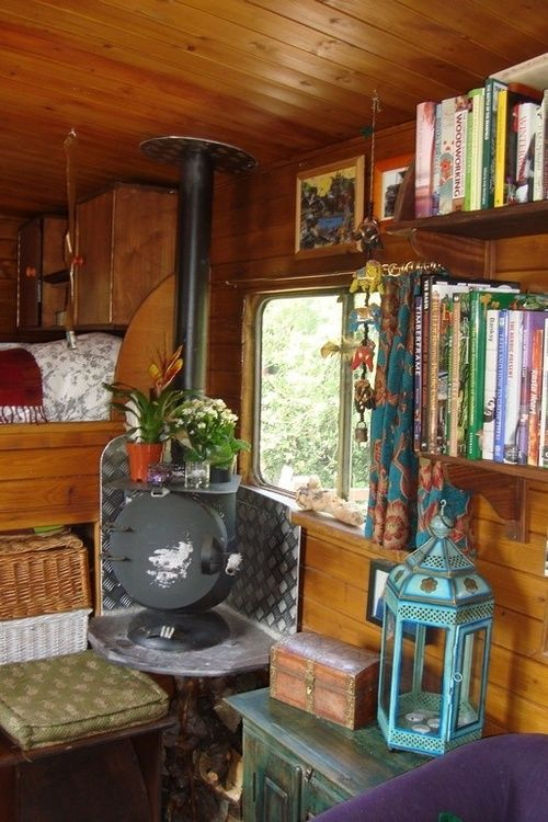 another wood stove in another camper.