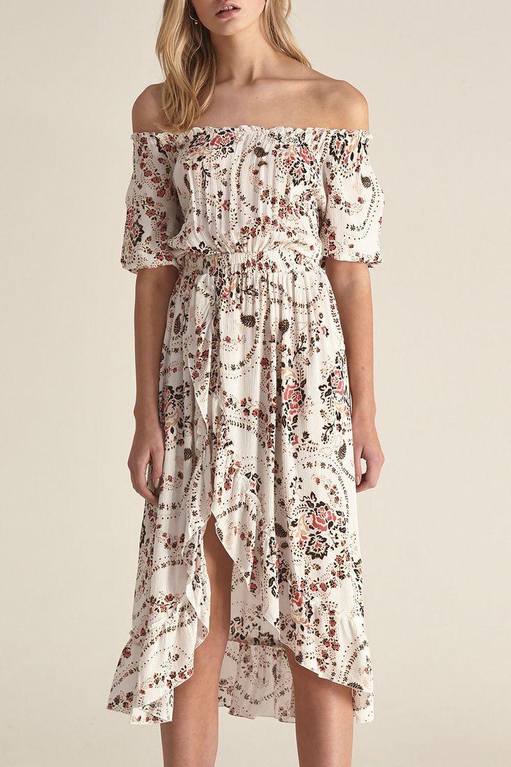 Steele - Agatha Dress - White Florete