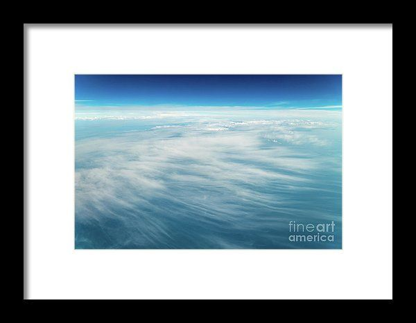 Flying Through Beautiful Landscape Of Earth Clouds Framed Print