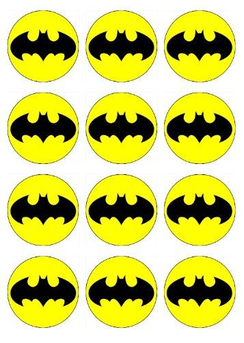BATMAN Cupcake Toppers Edible Image for Birthday Party! Edible cupcake toppers  Batman or superhero birthday party