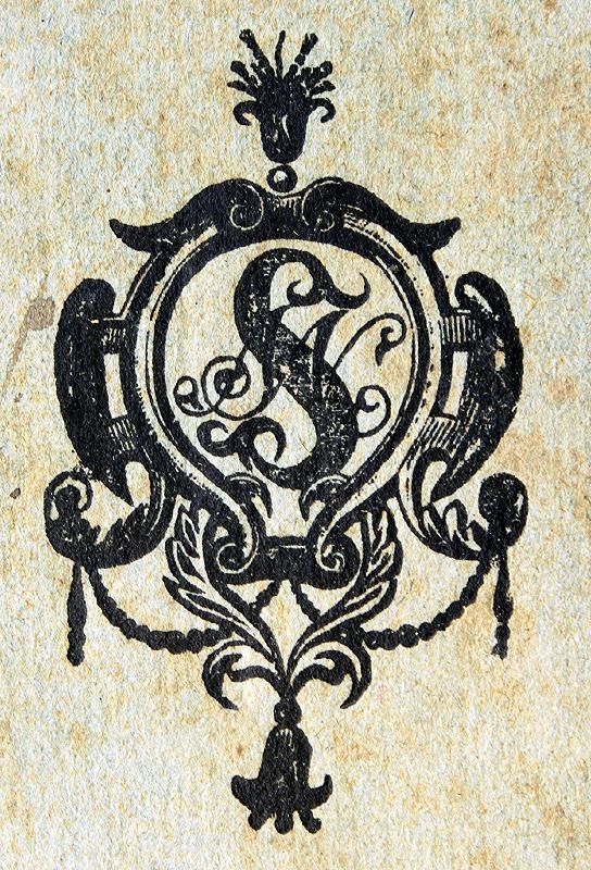Back cover monogram