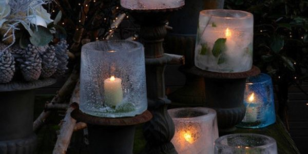 Islanterner - kan også bruges indendørs <3 Beautifull lanterns of ice. Can be used indoor <3 Would that make a beautifull centerpiece? YES it most definately would :-) Set hos/seen at webshop Coolstuff #Balcony #Patio #Christmas #Holidays #Lantern