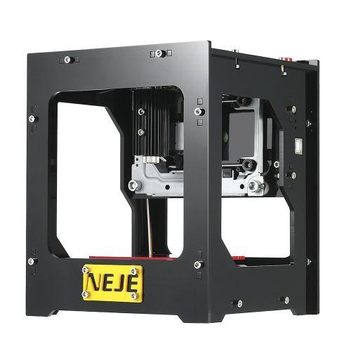 NEJE DK-8-FKZ A estrenar 1500mW alta velocidad mini grabador del laser del laser Carver automático DIY Impresión que graba la máquina que talla la operación fuera de línea con las gafas protectoras