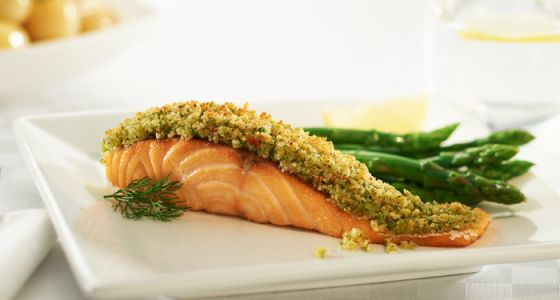 This delicious Baked #Salmon with a Parmesan Crust #recipe is made easy using the #Breville® #Halo+ Health Fryer. Delicious served with our Breville® Halo+ #Mediterranean Roasted #Vegetable recipe.