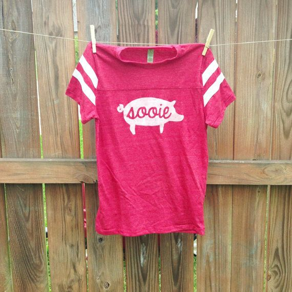 Custom PIG SOOIE Football Tee- have a little girl who would LOVE this :)