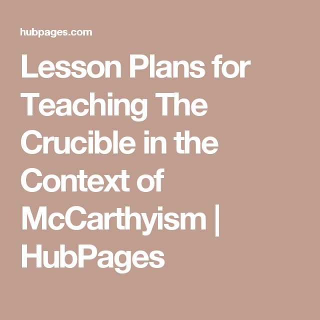 Context essay on the crucible