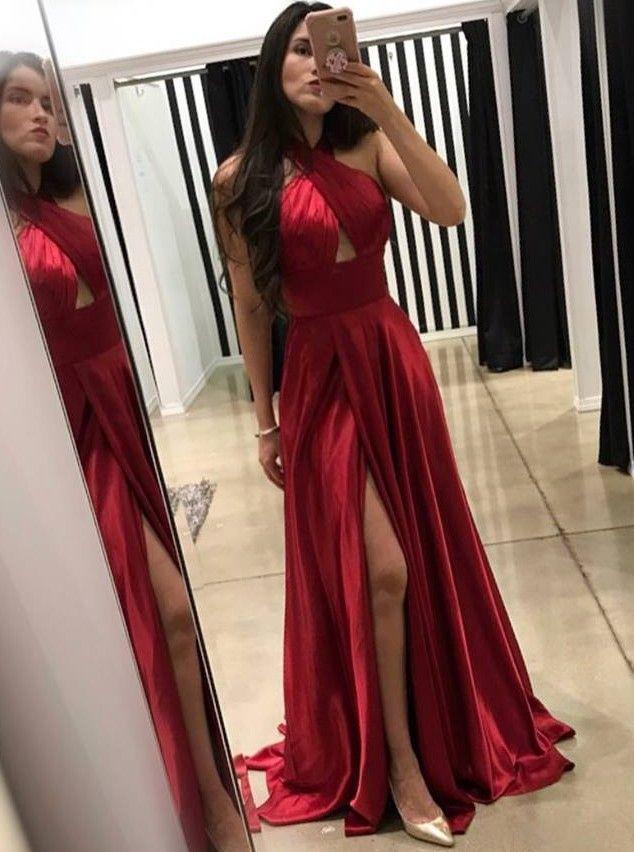 62faea378 Vestido de madrinha vermelho - 45 modelos para você se inspirar!  #vestidomadrinha #vestidodefesta #madrinha