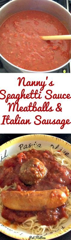 Nanny's Spaghetti Sauce and Meatballs (and optional Italian Sausage too!) is a popular recipe with her family. the grand kids absolutely love it! Easy to make, freezer friendly and always a hit!