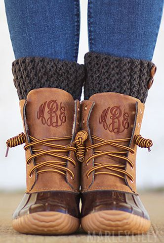 We love Monogrammed Duck Boots! ($15 OFF TODAY 1.3)