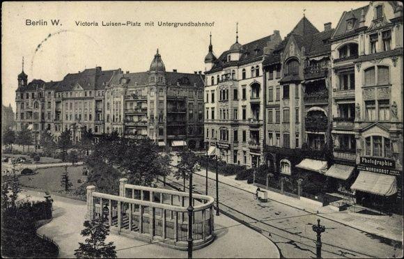 Ansichtskarte / Postkarte Schöneberg Berlin, Viktoria Luise Platz, U-Bahnhof