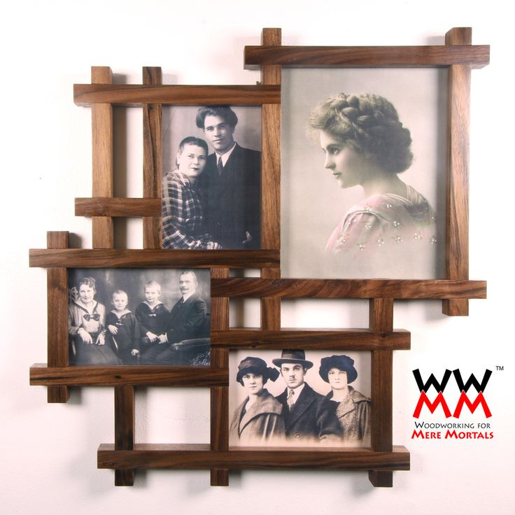 Multi-photo frame holds 5x7s and an 8x10.