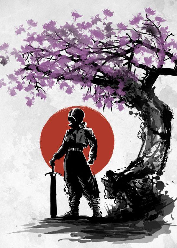 abba2c6c Displate Poster Hope under the sun trunks #vegeta #goku #dragon #ball # dragonball #anime #manga #japan #nature