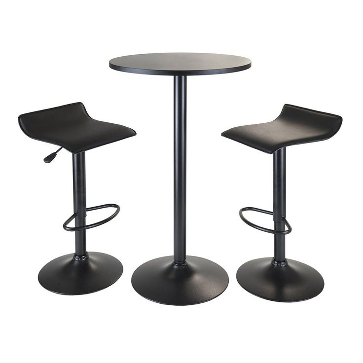 Winsome Obsidian 3-pc. Pub Table Set, Black