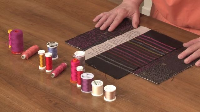 Choosing the Right Quilting Thread-helpful tips and techniques: Heather Thomas teaches you about types of thread, brands, weights of thread, and how you can utilize thread when making quilts. http://www.nationalquilterscircle.com/video/choosing-the-right-quilting-thread/