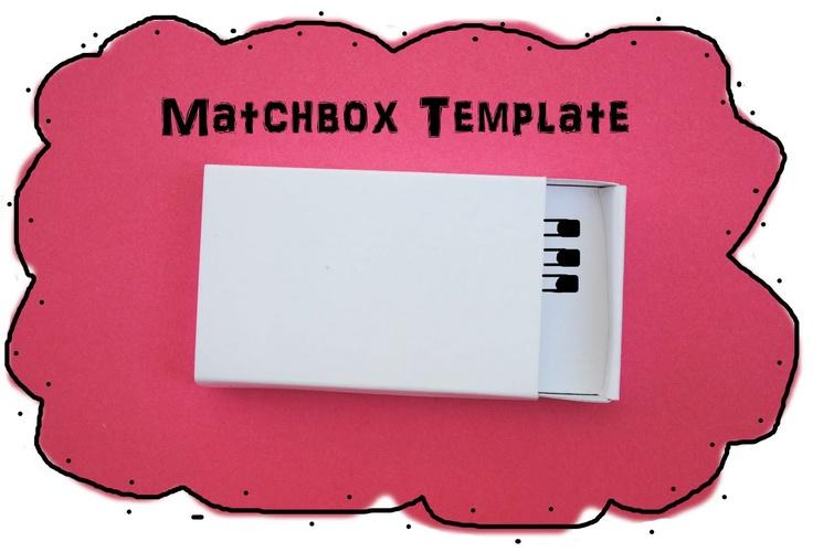 zakka life: Small Matchbox Template