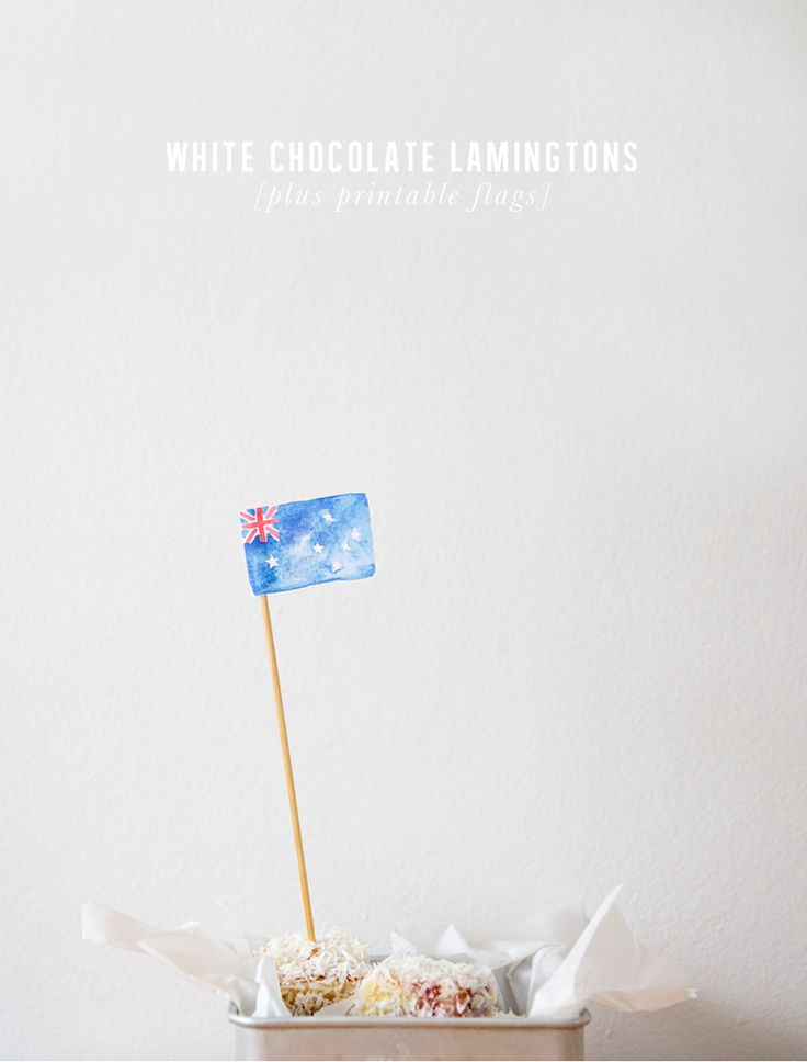 White Chocolate Lamingtons for Australia Day