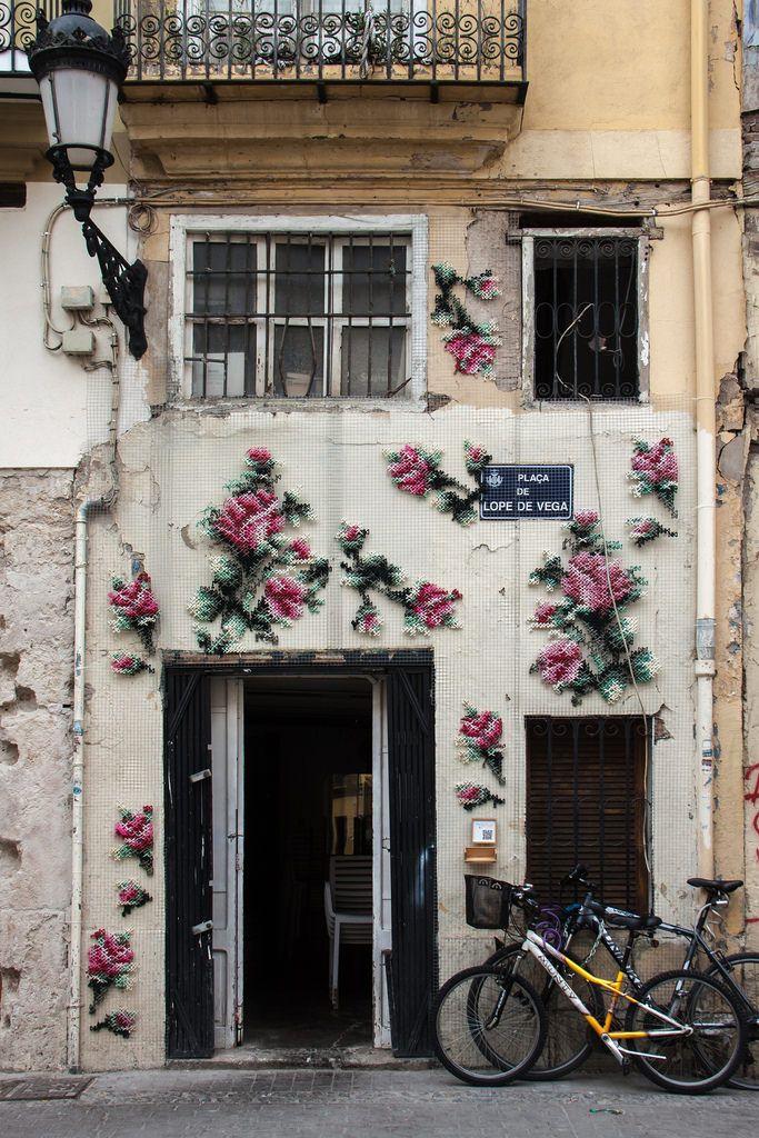 Cross stitch wall art  Valencia, Spain