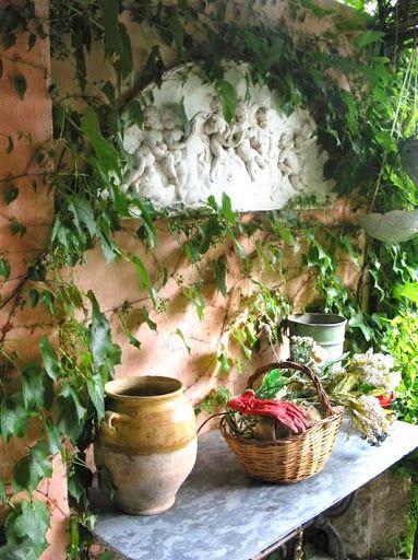 La Maison Verte terrace, Caunes-Minervois, France