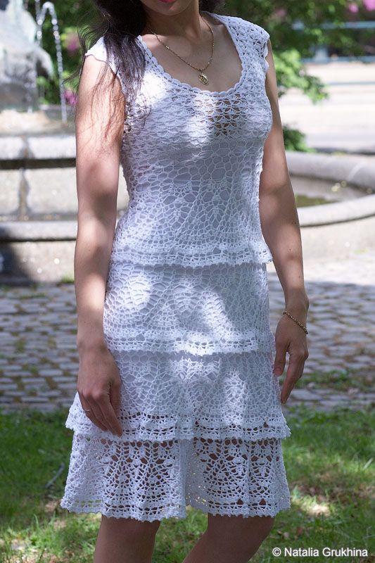 Платье крючком по мотивам сарафана Анны Костуровой. Обсуждение на LiveInternet - Российский Сервис Онлайн-Дневников