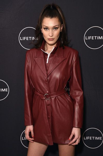 """Bella Hadid Photos - Bella Hadid celebrates Yolanda Hadid's birthday and the premiere of her new Lifetime show, """"Making A Model With Yolanda Hadid,"""" with friends and family in New York on January 11, 2018 in New York City. - Yolanda Hadid Celebrates Her Birthday And The Premiere Of Her New Lifetime Show, """"Making A Model With Yolanda Hadid"""" With Friends And Family In New York"""
