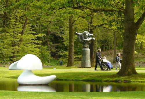 Kröller-Müller Museum // National Park The Hoge Veluwe, Netherlands (park entrances at Otterlo, Hoenderloo &  Schaarsbergen). A world-renowned collection of 19th and 20th C. art, including a large van Gogh collection, and a 25-hectare sculpture garden featuring works by artists including Rodin, Henry Moore, Barbara Hepworth, Richard Serra and Jean Dubuffet. You can drive through the park to the museum, but cycling in on one of the park's free white bikes is more fun!