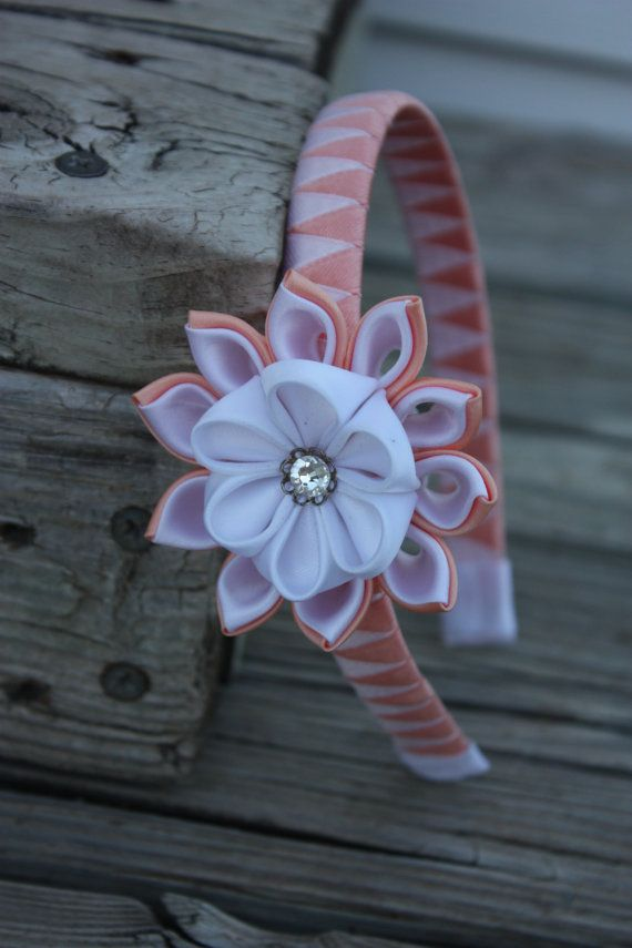 Hey, I found this really awesome Etsy listing at https://www.etsy.com/listing/232990471/kanzashi-fabric-flower-headband-satin