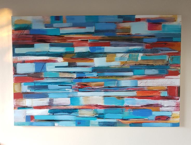 #Blue Strata Painting #Acrylic and inks #canvas #Strata