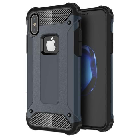 For iPhone X Magic Armor TPU + PC Combination Case  (navy)