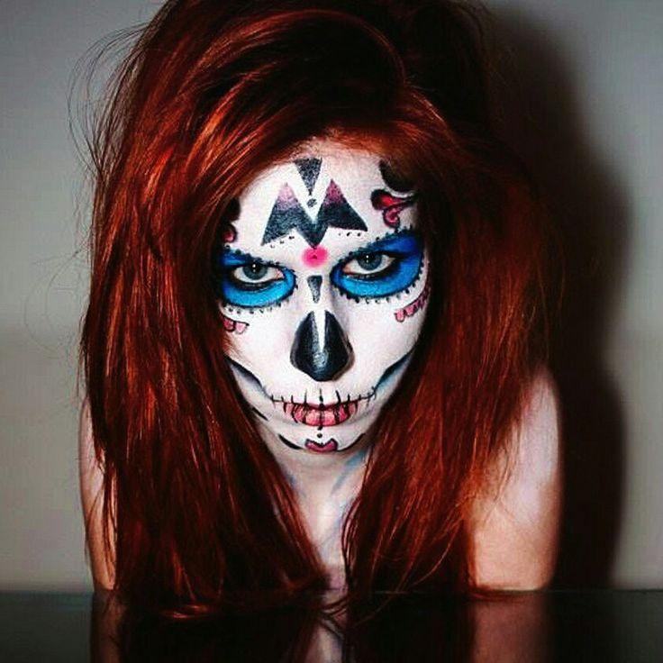 Sugar skull makeup!