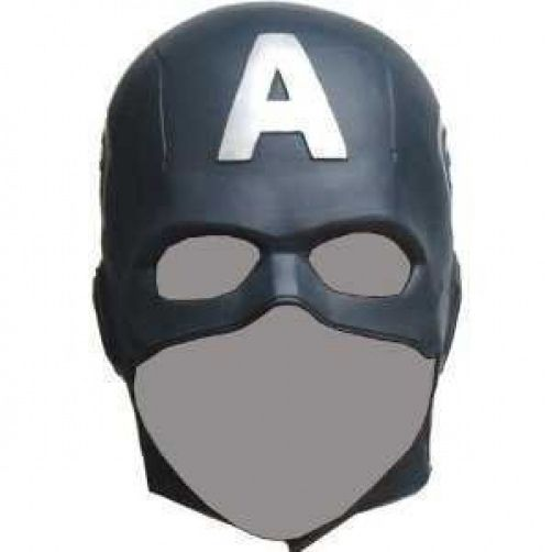 CAPTAIN AMERICA The Avengers Hero RUBBER MASK Halloween Party Costume picclick.com