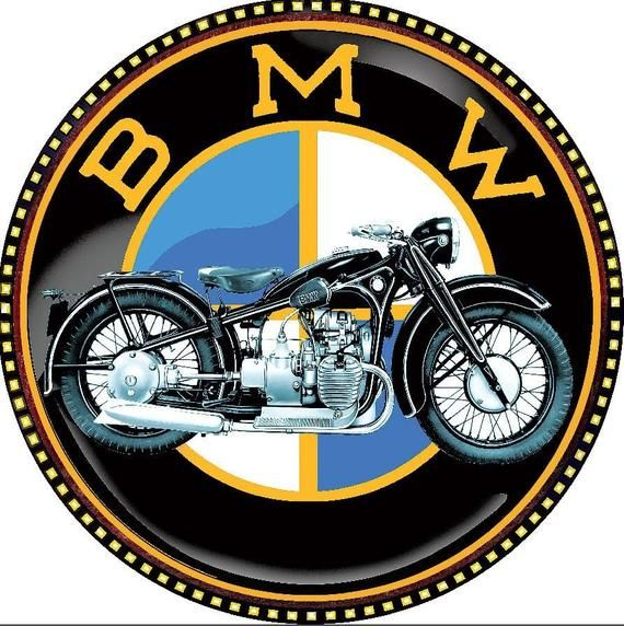 Vintage BMW Motorrad Poster - Retro Wandkunst / große Wandkunst