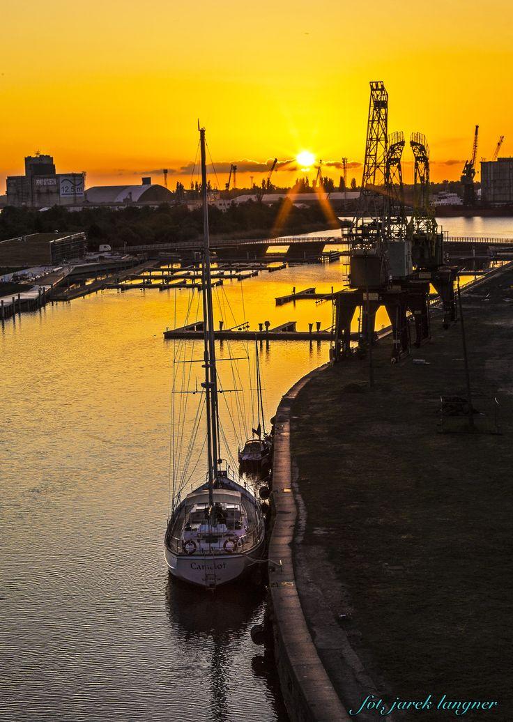 Morning Sun in Szczecin harbour