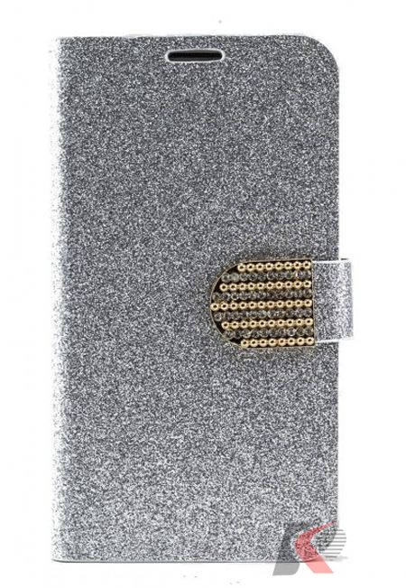 Samsung Galaxy Note 3 Abiye Tarzı Simli gümüş Kılıf