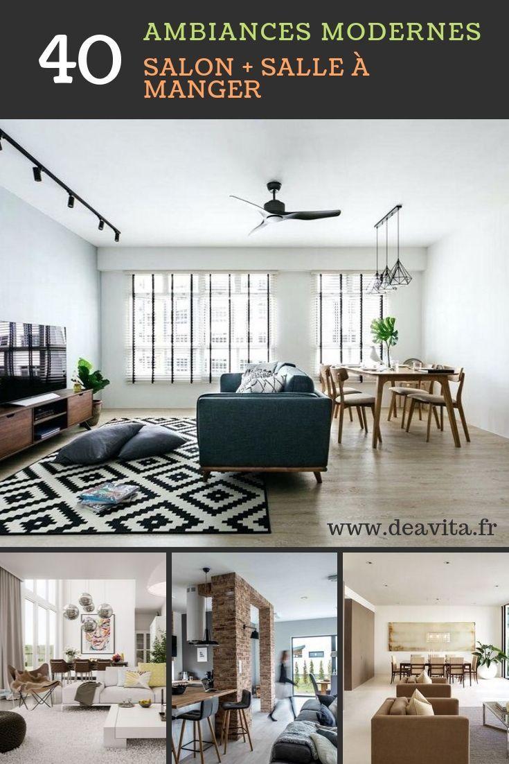 Décoration salon moderne + salle à manger : idées et photos