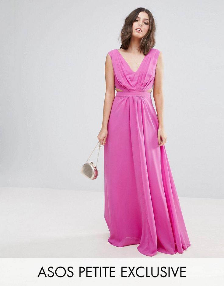 ASOS PETITE Side Cut Out Maxi Dress - Pink