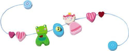 "HABA Heart Princess Pram Decoration by Haba. $25.19. The frog has found his princess! Use this jingly string of fun shapes to decorate and add fun and personality to your baby's stroller.Product Measures: 0"" x 4.88"" x 2.28""Recommended Ages: 0 months and up"