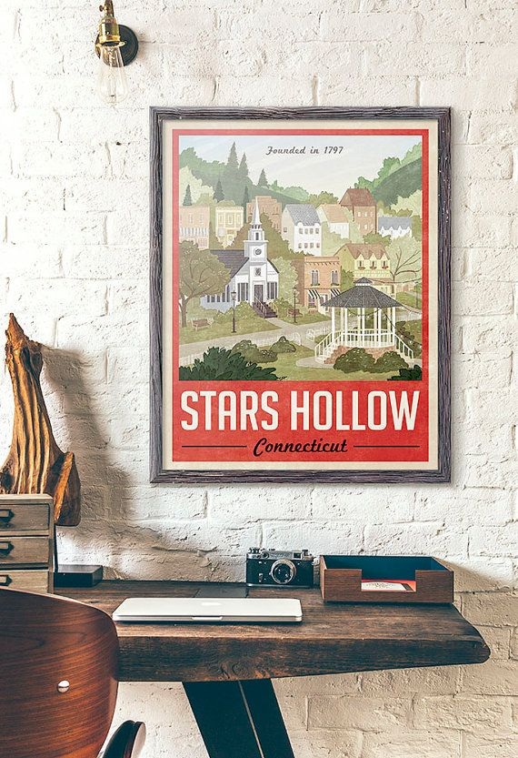 When I get to redo the office...  Hollow Poster Vintage Travel Poster by WindowShopGal