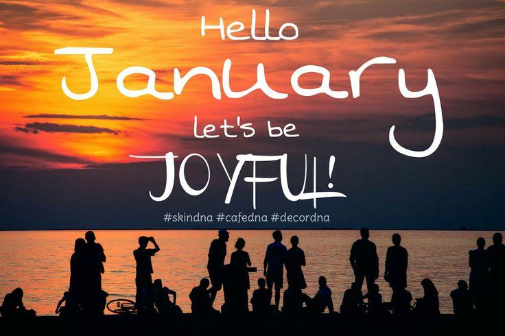 Hello January! #january12017 #january #sunset #joyful #hello #skindna #cafedna #decordna