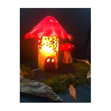 The Toadstool Faery Lamp