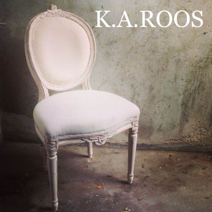 Swedish style chair from KA Roos. Reproduction of Rococco style design.