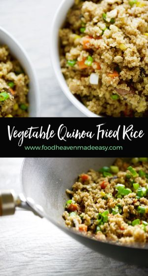 """#Ad Part of being dietitians means we are always looking for creative swaps for our favorite foods that may not be quite as nutritious.  So when our friends at SmartMade contacted us about creating our own nutritious recipe using a """"smart swap"""", we jumped at the chance to turn a traditional fried (white) rice into a yummy vegetable quinoa delight. Repin for a chance to see a similar meal in your freezer aisle Inspired By You @smartmade0201 @aol_lifestyle"""
