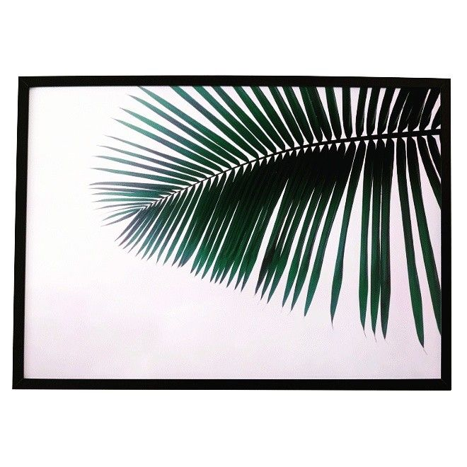 Minimal Millennial palm print in landscape, available  in A4, A2 and B1 sizes at www.samuska.com tropical palm, palm tree, leaves, leaf, pink, fan palm,