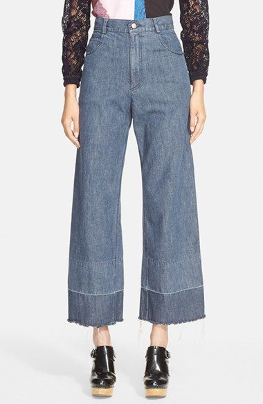 RACHEL+COMEY+'Legion'+Wide+Leg+Embroidered+Denim+Pants+available+at+#Nordstrom