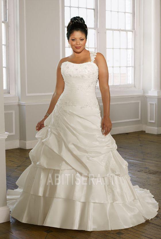 Abito da sposa Inverno Avorio Ball Gown Increspato Coda A Strascico Cappella