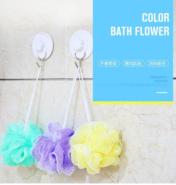 カラーナイロン風呂スポンジ浴室付属品浴室セット実用バスタオルをz394