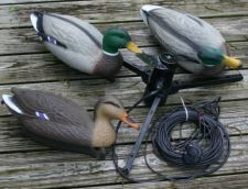 {tab Product Description} MOJO Mallard Machine's ultra-realistic motion and water movement brings your entire decoy spread to life! From the blind, by button, the hunter can choose from many motions such as diving, shaking, sitting still or thrashing water and can even be used as a de-icing mechanism! Ducks will fly right into the middle of your decoy spread just to get in on the action! Add the MOJO Mallard Machine to your decoys, and make this your best duck season ever! MOJO Mallard…