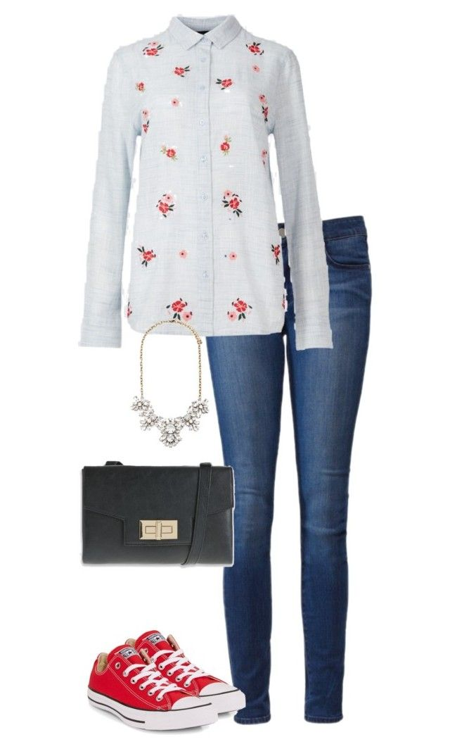 """Office Casual #164"" by amooshadow on Polyvore featuring Paige Denim, Converse and Forever 21"